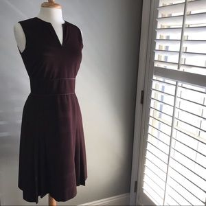 Ann Taylor lined tailored brown dress
